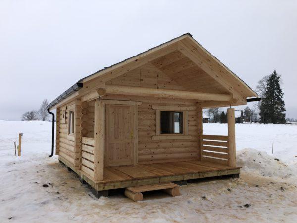 Gatava guļbūves pirts vai dārza māja 27m2