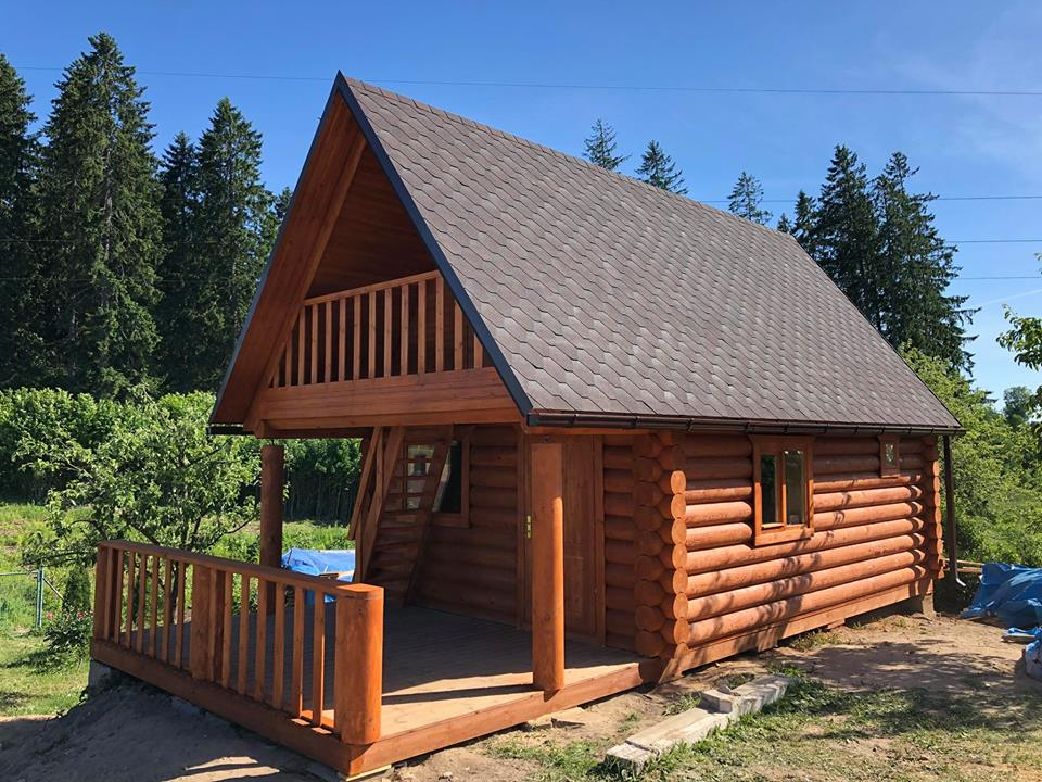 Prefabricated log sauna or cabin 68 m2