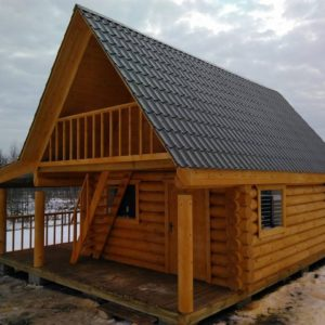 prefabricated log building  80m2