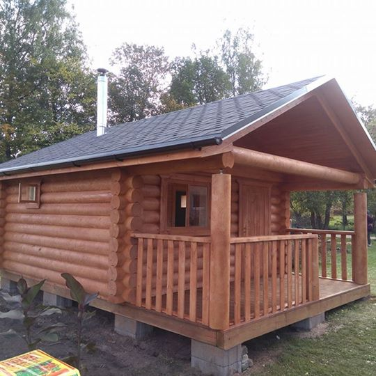 Prefabricated log sauna or garden shed 27 m2