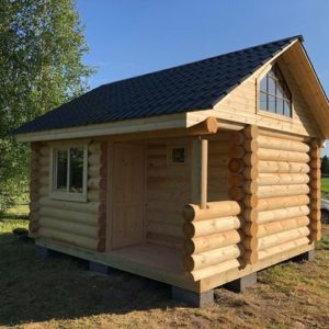 prefabricated log sauna 18 m2