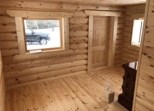 Guļbaļķu namiņš Alūksnē 27 m2